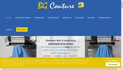 Site internet de Bg Couture