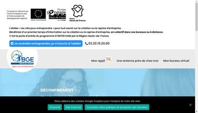 Site internet de BGE