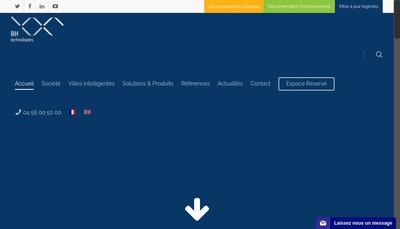 Site internet de Bh Technologies