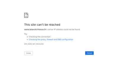 Site internet de Bianchi France