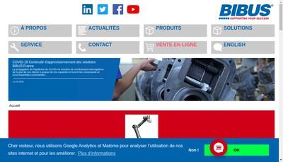 Site internet de Bibus France