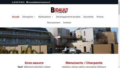 Site internet de Bidault Menuiserie