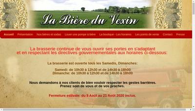 Site internet de SARL Ferme Brasserie du Vexin