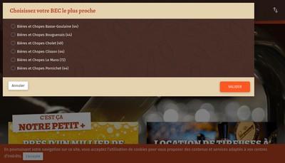 Site internet de Bieres et Chopes