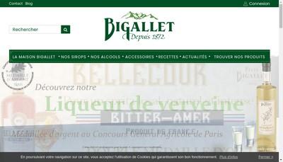 Site internet de SAS Bigallet