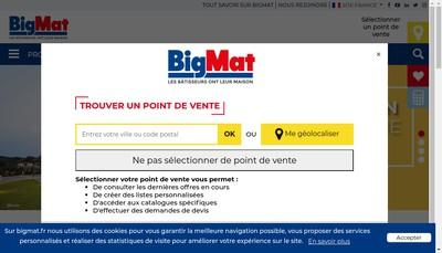Site internet de Big Mat
