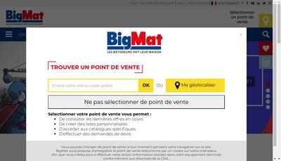 Site internet de Bigmat Oceane de Materiaux