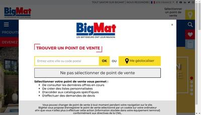Site internet de Bigmat - Etablissements Francioli