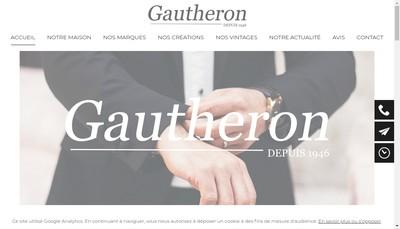 Site internet de Bijouterie Gautheron