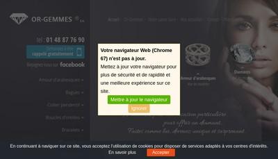 Site internet de Or et Gemmes