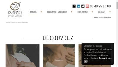 Site internet de Joaillerie Caminade SARL