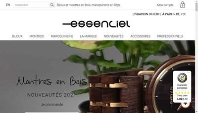 Site internet de Essenciel