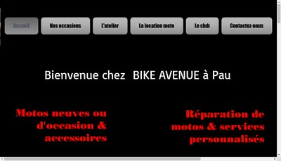 Site internet de Bike Avenue