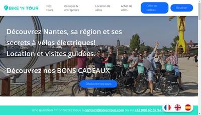 Site internet de Bike'N Tour