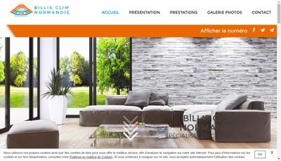 Site internet de Billis Clim Normandie