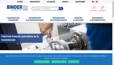 Site internet de Binder Magnetic