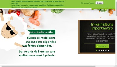 Site internet de Bio C' Bon Suffren