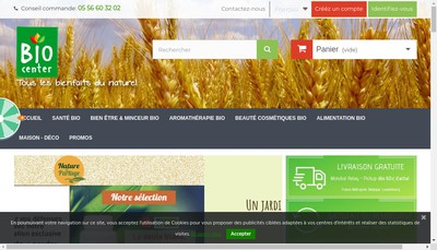 Site internet de Bio Center