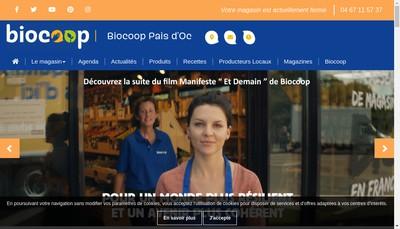 Site internet de Bio Pais d'Oc