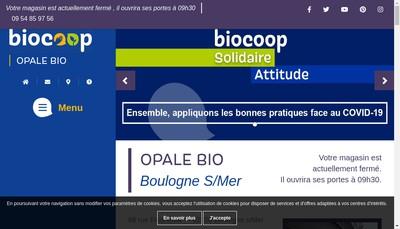Site internet de Opale Bio Biocoop