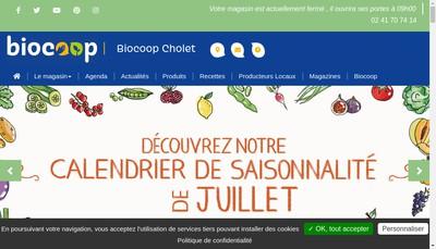 Site internet de Biocoop Cholet Nord