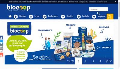 Site internet de Biocoop du Haut Jura