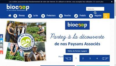Site internet de Biocoop Malherbe