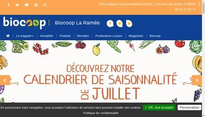 Site internet de La Ramee Bio