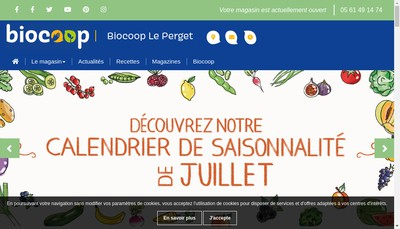Site internet de Bio Coop