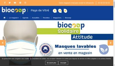 Site internet de Biocoop Pays de Vitre