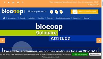 Site internet de Biocoop Uzurat