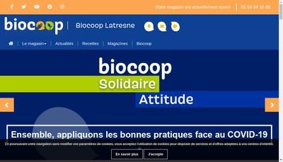 Site internet de Biocoop