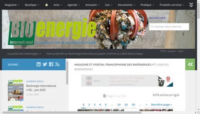 Site internet de Bioenergie Promotion