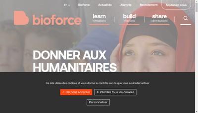 Site internet de Institut Bioforce