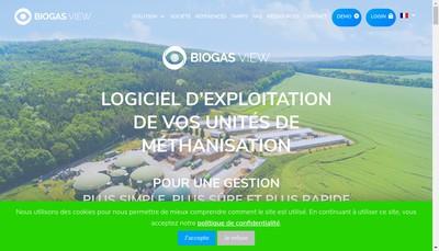 Site internet de Biogas View