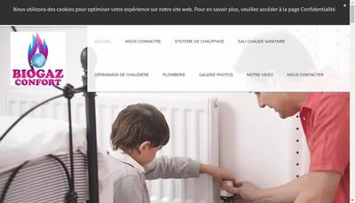 Site internet de Biogaz Confort