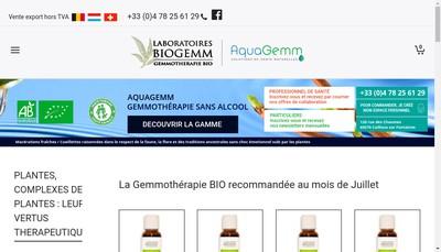 Site internet de Biogemm