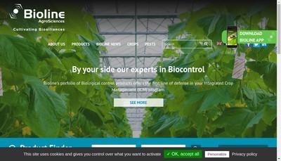 Site internet de Bioline Agrosciences