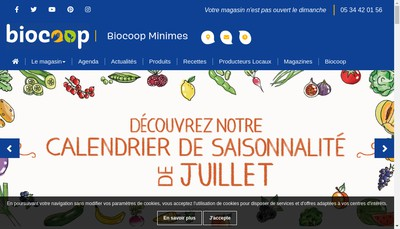 Site internet de Biocoop Minimes