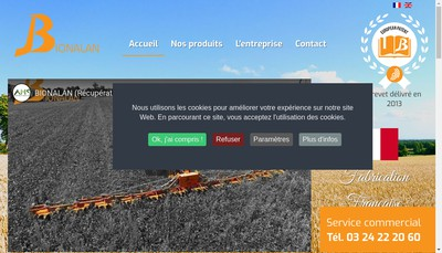 Site internet de Bionalan