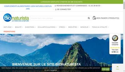 Site internet de Bionaturista France