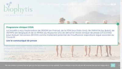 Site internet de Biophytis