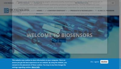 Site internet de Biosensors France