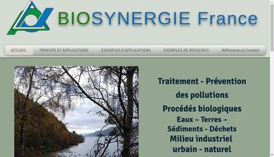 Site internet de Biosynergie
