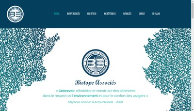 Site internet de Biotope Ingenierie