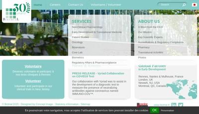 Site internet de Biotrial Research