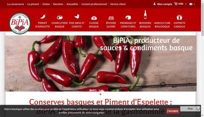 Site internet de Bipia