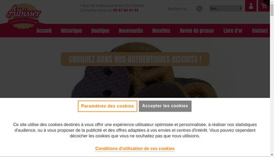 Site internet de Biscuiterie Albisser