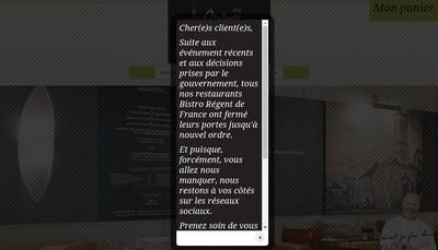 Site internet de Bistro Regent