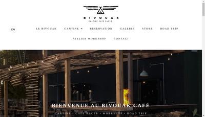Site internet de Bivouak Cafe
